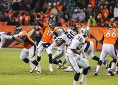 Brock Osweiler's first NFL touchdown pass. Good job! Raiders vs Broncos 12/14.