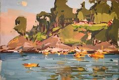 John Burton, Chile, 5x7 Gouache