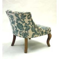 iKat Blue / Off White Fabric Accent Chair | Overstock.com