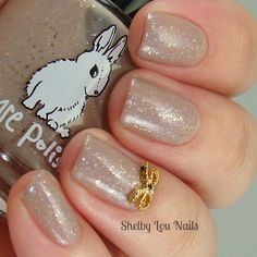 Shelby Lou Nails - Hump Day HARE - Hare Polish - Pretty When I Cry - with flash