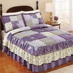 Melina Patchwork Quilted Bedspread, by Collections Etc White Bedspreads, Bed Decor, King Bed Covers, Bedspread Set, Bedding Sets, Bed, Southwestern Bedding, Victorian Curtains, Collections Etc