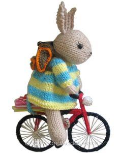 bunny on a bike - knitting pattern