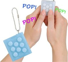 PuchiPuchi Endless Pop Pop Infinite Bubble Wrap Key Chain Squeeze Relieve Stress