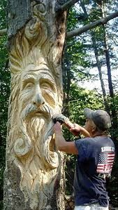 Afbeeldingsresultaat voor how to cut a half log hollow with chainsaw #CustomWoodworkingJobs