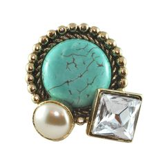 Lulu Frost Pearl and Turquoise Ring