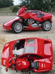 The Ultimate Lamborghini Motorcycle Side Car.