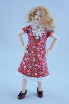 "Excited to share the latest addition to my #etsy shop: Wearable dollhouse dress for 1/12 Heidi Ott 5.5"" slim doll. Free shipping! http://etsy.me/2DnvmK3  #dollhouse #artandcollectibles #dollhouseminiatures #112scaleoutfit #112scaleclothes #heidiott #dollsclothes #dolls"