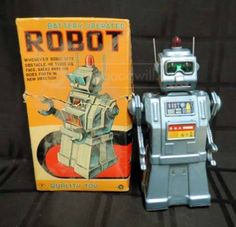 Vintage E.T. Company Battery Operated Robot Toy