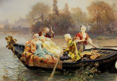 The Rowing Party, Cesare Auguste Detti (1847-1914)
