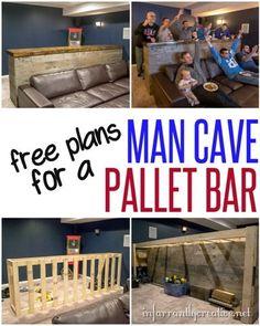 Woodworking Plans   DIY Man Cave Pallet Bar