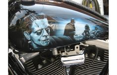 Frankenstein Airbrushed Motorcycle Tank