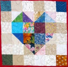 Scrap Tease Quilt Pattern Free | Heart Quilt Pattern | Quilt Patterns from Seattle