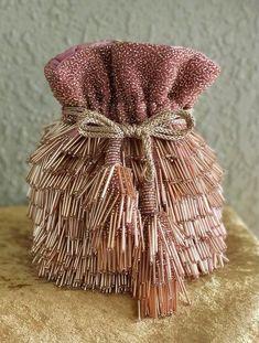 Beautiful Potli Bag Designs to Carry at Wedding Ceremonies Powder pink potli. Diy Bags Purses, Purses And Handbags, Dress Design Patterns, Dress Designs, Potli Bags, Embroidery Bags, Boho Bags, Beaded Bags, Fabric Bags