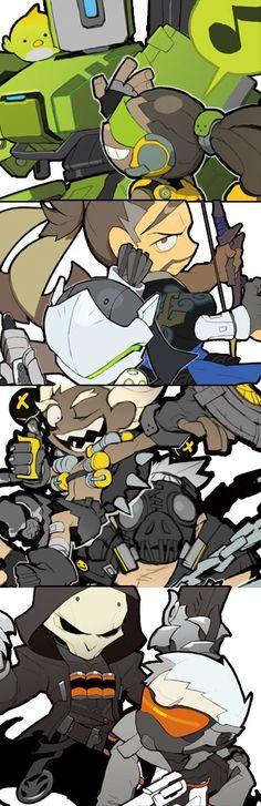 Overwatch World, Overwatch Fan Art, Soldier 76, Anime Base, Chibi Characters, Best Waifu, Mega Man, Paladin, Funny Comics