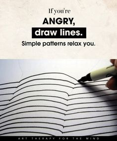 Art therapy activities drawing 15 Ways To Use Art For Controlling Your Mind And Channelling Your Emotions- feel angry: draw lines, simple patterns Art Therapy Projects, Art Therapy Activities, Therapy Tools, Play Therapy, Therapy Ideas, Art Projects, Family Therapy, Speech Therapy, Coaching