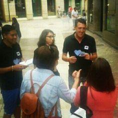 Nuestros compañeros de Málaga en acción.