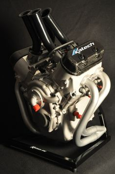 Great power to weight ratio on this very compact engine.