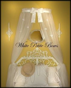 Princess Bed canopy CrOwN with curtains INCLUDED by SoZoeyBoutique, $48.95