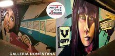 """Gofy, lo street artist che, oltre a regalare due bellissime opere alla Galleria Nomentana, lancia un'innovativa iniziativa """"ambientalista"""". Un buon esempio a tutela del nostro ambiente..  #roma #nomentanagallery #stazionenomentana #streetart #writer #graffiti #gofy #gallerianomentana #arteecittaacolori #murales #urbanart #decorourbano #igerslazio #sprayart #ambiente #tuteladellambiente #iniziativalodevole"""