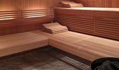 Alder sauna in narrow profile