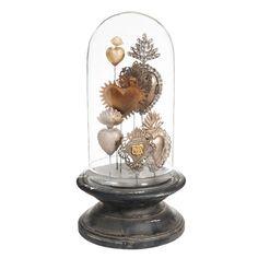 Campana déco in vetro e legno A 38 cm BROC ANTIQUE