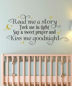 Read Me a Story Wall Quote - So sweet for a child's room.