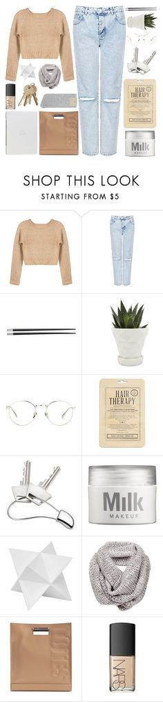 """""""KISS ME BEFORE YOU GO"""" by expresng ❤ liked on Polyvore featuring Topshop, Typhoon, Chive, Linda Farrow, Kocostar, Georg Jensen, MILK MAKEUP, Dot & Bo, 3.1 Phillip Lim and NARS Cosmetics"""