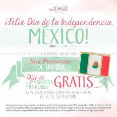 ¡Un dije de regalo! Compra el 16 de septiembre y obtén un dije de bandera de México gratis