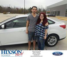 Congratulations Amber and Jordan  from Scott Turner at Hixson Ford of Monroe!  https://deliverymaxx.com/DealerReviews.aspx?DealerCode=M553  #HixsonFordofMonroe