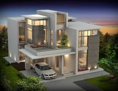 Seiken Contemporary designed Luxury Villas at Calicut Kerala Floor Plan 1959 sqft and 2300 sqft | Home Design Inspiration - Architecture Blog
