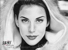 The lovely beautifull Liv Tyler! in my opinion Liv Tyler is one of the worlds most beatifull woman, shes just perfect! The Lovely Liv Tyler Beautiful Pencil Drawings, Cool Drawings, Pen Drawings, Celebrity Drawings, Celebrity Portraits, Etch A Sketch, Traditional Artwork, Female Pictures, Liv Tyler