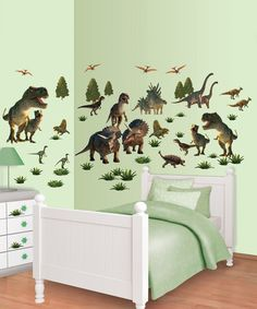 Muursticker set Dinosaurus Land - Slaapkamer Merlijn | Pinterest ...