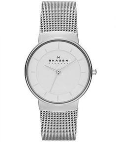 Skagen Denmark Watch, Women's Stainless Steel Mesh Bracelet 32mm SKW2075