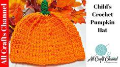 bdef4c9896c1b Crochet Pumpkin Hat - YouTube Crochet Pumpkin Hat