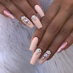 Stunning Nail Art Designs for Coffin Nails Stunning Nail Art Designs for Coffin NailsHere are 13 stunning nail art designs for coffin nails; Scroll down to see the nail art designs fo Elegant Nail Art, Beautiful Nail Art, Gorgeous Nails, Pink Nails, My Nails, Cute Nails, Pretty Nails, Nail Art Designs, Nails Design