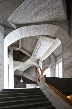 Goetheanum, by Rudolf Steiner [1924-1930] Dornach, Switzerland [Photography: Eugeni Bach]