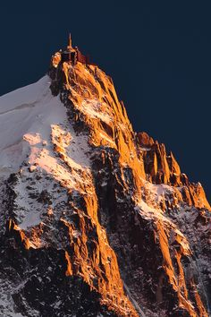 """Aiguille du Midi """"Needle of the Noon"""" or """"Needle of the Mid-day"""", Chamonix, France"""