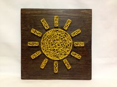 String Art Sun Sign Sunshine Wall Art Home Decor от OneRoots
