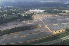 Apple's solar farm for it's data center, goal is to power the data centers 100% with renewable energy.