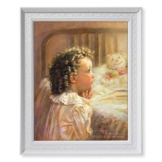This Little Light Of Mine Little Child Praying Print in Frame – Beattitudes Religious Gifts