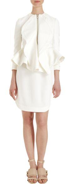 Givenchy white peplum jacket. On SALE!