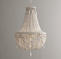 Anselme Large Chandelier - Weathered White