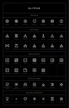 glyphs from MANIFEST