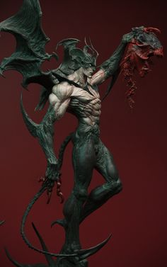 Hello,here is my new take on devilman,currently still a WIP,i'll update more on him soon down here are 1 keyshot render and a turnaround in zbrush Thanks for watching! Fantasy Kunst, Dark Fantasy Art, Fantasy Artwork, Dark Art, Monster Concept Art, Monster Art, Tekken Wallpaper, Character Art, Character Design