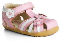 Bobux I-Walk Pink and White Sandal $45.96 http://www.meandmyfeet.com/product/BX%20IW-SDLIP #Pink #White #Sandal #Kids #Shoes