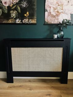 Living Room Decor Frames, Diy Radiator Cover, Small Tv Stand, Black Radiators, Hallway Inspiration, Color Trends, Being Ugly, Wicker, Home Improvement