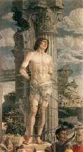 Andrea Mantegna, San Sebastiano, 1480 circa, tempera a colla su tela, Sainte-Chapelle di Aigueperse, Musée du Louvre, Parigi