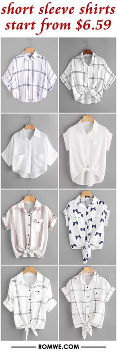 short sleeve shirts from $6.59