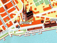 1940 map of Lucerne, Switzerland