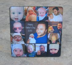 Personalized Father's Day Picture Frame - Father's Day ORDER DEADLINE - MAY 15th, Baby's First Year Picture Frame, Photo Collage Frame on Etsy, $58.00